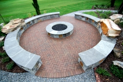Fire Pit and Stone Seating Walls (alternate view)