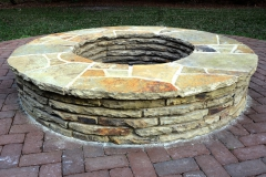 Tennessee sandstone raised firepit