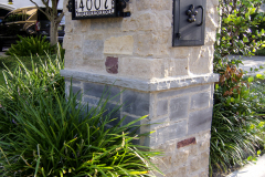 Natural stone mailbox blended with Wisconsin and Oklahoma stone