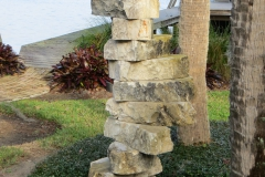 Natural stone stacked sculpture