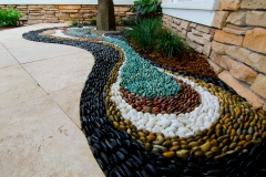 Water on pebble mosaic