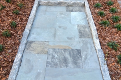 Ashlar path with granite edging