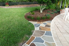 Dry-laid flagstone path with mortared joints