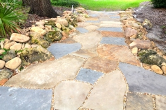Natural stone path and border