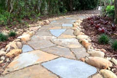 Natural stone garden pathway (alternate view)