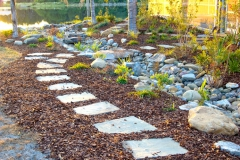 Sandstone path over dry-creek bed