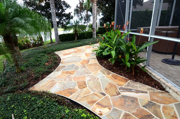 Dry Laid Flagstone Patio With Mortared Joints