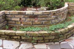 Natural stone herb planter